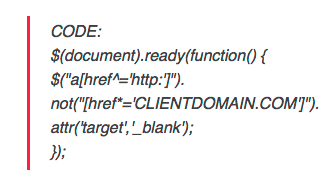 Enforcing _blank target on external links